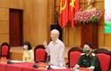Tổng Bí thư Nguyễn Phú Trọng và các ứng cử viên đại biểu Quốc hội tham gia vận động bầu cử
