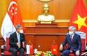 Chủ tịch Đỗ Văn Chiến tiếp Bộ trưởng Bộ Ngoại giao Cộng hòa Singapore