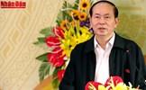 Chủ tịch nước Trần Đại Quang dự Ngày hội Đại đoàn kết toàn dân tại Bắc Giang