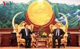 Bộ trưởng Bộ Công an Tô Lâm thăm và làm việc tại Lào