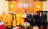 Giáo hội Phật giáo Việt Nam thăm, chúc Tết Ủy ban Trung ương MTTQ Việt Nam