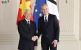 Tổng Bí thư Nguyễn Phú Trọng hội kiến Chủ tịch Quốc hội Pháp