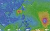 Bão số 5 và siêu bão Mangkhut sẽ gây mưa cực lớn khắp Bắc Bộ
