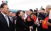 Chủ tịch Quốc hội đến Busan, bắt đầu thăm chính thức Hàn Quốc