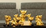"""Quà """"khủng"""" chơi Tết: Đại gia chi trăm triệu đặt tượng heo đúc vàng nguyên khối cầu may"""