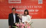 Nhà báo Nguyễn Thị Mai Hương trở thành Tổng biên tập Báo điện tử Kiến Thức