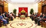 Thường trực Ban Bí thư Trần Quốc Vượng tiếp Chủ tịch Quốc hội Vương quốc Campuchia