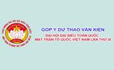 Góp ý Văn kiện Đại hội IX Mặt trận Tổ quốc Việt Nam