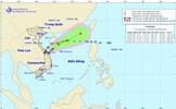 Áp thấp nhiệt đới cách đất liền Quảng Trị-Quảng Ngãi 180km, giật cấp 8