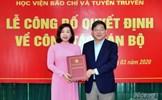 PGS - TS. Nguyễn Thị Trường Giang được bổ nhiệm làm Phó Giám đốc Học viện Báo chí và Tuyên truyền