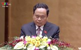 Chủ tịch Trần Thanh Mẫn trình bày Báo cáo tổng hợp ý kiến, kiến nghị của cử tri và Nhân dân tại Quốc hội