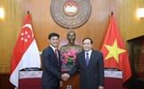 Chủ tịch Trần Thanh Mẫn tiếp đoàn đại biểu cấp cao Hiệp hội Nhân dân Singapore