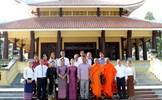 Ngài Nhem VaLy thăm khu tưởng niệm Chủ tịch Tôn Đức Thắng