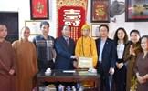 Trao Kỷ niệm chương Vì sự nghiệp Đại đoàn kết dân tộc cho Đại lão Hòa thượng Thích Phổ Tuệ