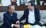 Chủ tịch Trần Thanh Mẫn chúc Tết Giáo sư Nguyễn Lân Dũng