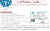 Thực hiện tiếp nhận hồ sơ đăng ký cấp lại thẻ BHYT qua Zalo