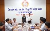 Công nhận chức danh Phó Chủ tịch Ủy ban MTTQ Việt Nam tỉnh Bình Định
