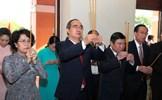 Dâng hương tưởng niệm Chủ tịch Hồ Chí Minh và Chủ tịch Tôn Đức Thắng