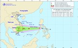 Áp thấp nhiệt đới đã đi vào Biển Đông và có khả năng mạnh lên thành bão