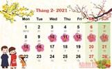 Lịch nghỉ Tết Nguyên đán chính thức của năm 2021