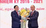 Chủ tịch nước Nguyễn Xuân Phúc, Thủ tướng Chính phủ Phạm Minh Chính dự Lễ bàn giao công việc của Thủ tướng Chính phủ