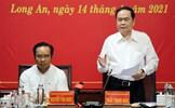 Phó Chủ tịch Thường trực Quốc hội Trần Thanh Mẫn kiểm tra công tác chuẩn bị bầu cử tại tỉnh Long An