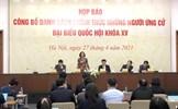 Công bố danh sách 868 người ứng cử đại biểu Quốc hội khóa XV