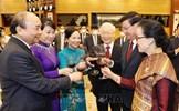 Chiêu đãi trọng thể chào mừng Tổng Bí thư, Chủ tịch nước Lào Thongloun Sisoulith và Phu nhân cùng Đoàn cấp cao Lào