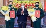 Trao Quyết định thăng hàm Đại tướng cho Bộ trưởng Bộ Quốc phòng Phan Văn Giang