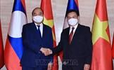 Chủ tịch nước Nguyễn Xuân Phúc hội kiến Chủ tịch Quốc hội Lào