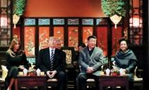 Chùm ảnh ngày đầu thăm chính thức Trung Quốc của Tổng thống Mỹ Donald Trump