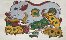 Tranh dân gian và tranh Tết về con lợn trong năm Hợi