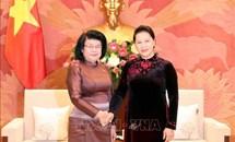 Chủ tịch Quốc hội tiếp Phó Chủ tịch thứ hai Quốc hội Campuchia