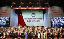 Bế mạc Đại hội Đại biểu toàn quốc Mặt trận Tổ quốc Việt Nam lần thứ IX