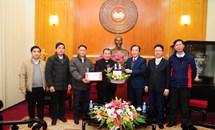 Phó Chủ tịch Ngô Sách Thực tiếp đoàn Tòa Giám mục Giáo phận Lạng Sơn và Cao Bằng