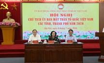 Hội nghị Chủ tịch Ủy ban MTTQ Việt Nam các tỉnh, thành phố năm 2020