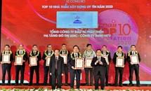 UDIC nhận giải thưởng Top 10 nhà thầu uy tín 2020