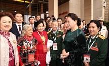 Chủ tịch Quốc hội gặp mặt đại biểu dự Đại hội Thi đua yêu nước toàn quốc