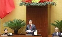 Chủ tịch Quốc hội Vương Đình Huệ điều hành phiên họp đầu tiên