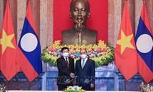 Chủ tịch nước Nguyễn Xuân Phúc hội kiến Tổng Bí thư, Chủ tịch nước Lào