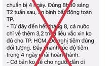 """Hà Nội bác thông tin """"không cho người dân di chuyển trong 7 ngày"""""""