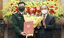 Chủ tịch nước trao Quyết định thăng quân hàm Thượng tướng cho Giám đốc Học viện Quốc phòng