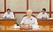 Tổng Bí thư chủ trì họp về Đề án sửa đổi quyền hạn của Ban Chỉ đạo Trung ương về phòng, chống tham nhũng
