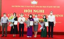 Ủy ban Trung ương MTTQ Việt Nam triển khai quyết định về công tác cán bộ