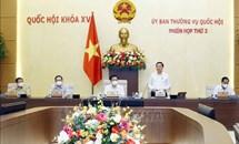 Ủy ban Thường vụ Quốc hội cho ý kiến về nhiều nội dung quan trọng