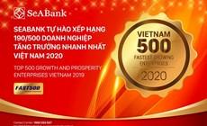 SeABank tăng hạng vượt bậc, đứng 190/500 trong bảng xếp hạng FAST500