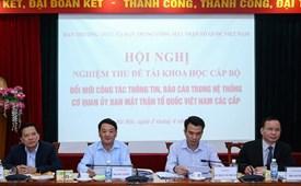 Nâng cao khả năng ứng dụng kết quả nghiên cứu khoa học của cơ quan UBTƯ MTTQ Việt Nam