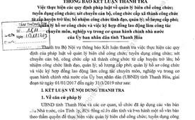 94 cán bộ cấp quản lý ở Thanh Hóa được bổ nhiệm không đủ điều kiện