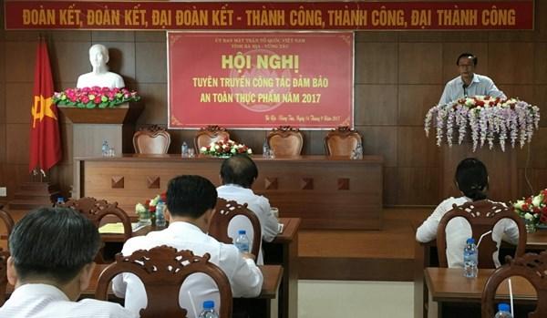 Bà Rịa - Vũng Tàu đẩy mạnh công tác tuyên truyền đảm bảo an toàn thực phẩm