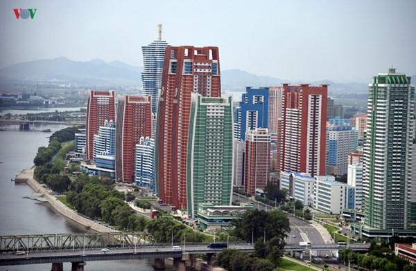 Thủ đô Bình Nhưỡng (Triều Tiên) đẹp ấn tượng từ góc nhìn trên cao